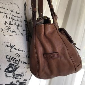 UGG brown leather purse